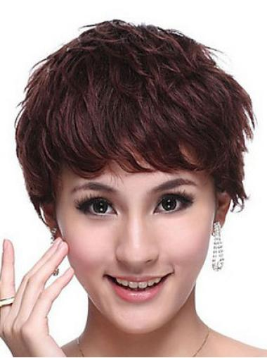 "Perruques Cheveux Humaines 6"" Populaire Auburn"