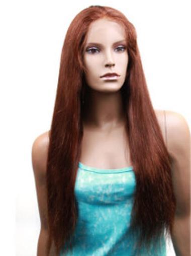 """Perruques Cheveux Humaines 22"""" Bonne Auburn"""