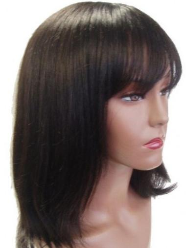 """Perruques Cheveux Humaines 14"""" Fabuleux Brune"""