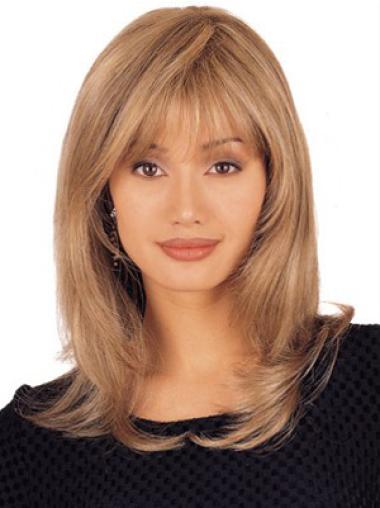 """Perruques Cheveux Humaines 14"""" Parfaite Blonde"""