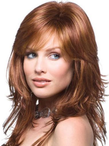 """Perruques Cheveux Humaines 15"""" Idéale Auburn"""