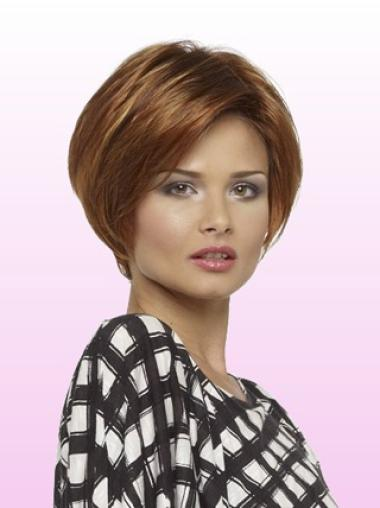 """Remy Human Perruques Lace 8"""" Incroyable Auburn"""