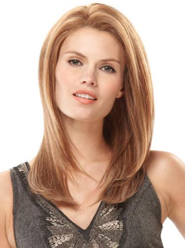 "Perruques Cheveux Humaines 18"" Incroyable Blonde"