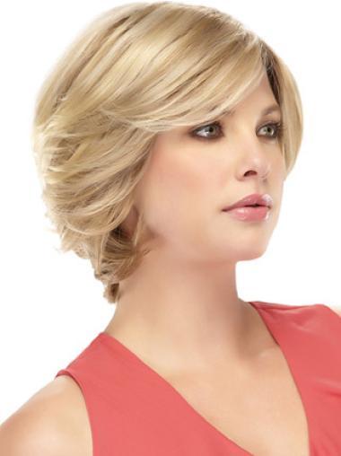 "Remy Human Perruques Lace 8"" Excellente Blonde"