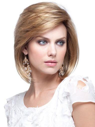 "Perruques Cheveux Humaines 8"" Excellente Blonde"
