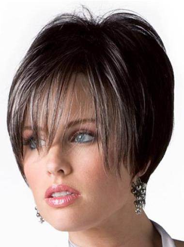 "Perruques Cheveux Humaines 6"" Durable Brune"