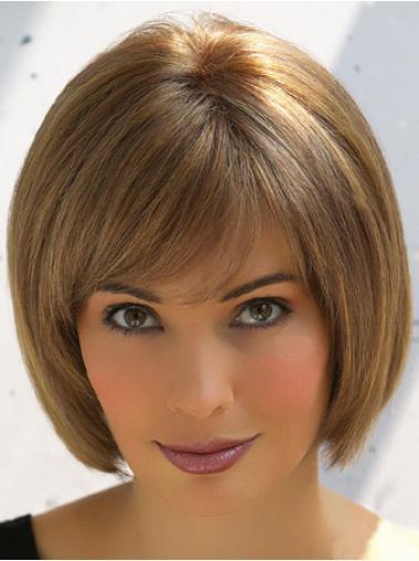 "Perruques Cheveux Humaines 8"" Souple Brune"
