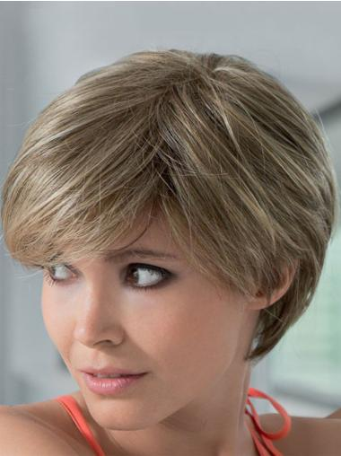 """Remy Human Perruques Lace 8"""" Flexible Blonde"""