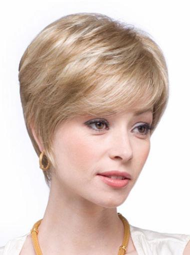 """Perruques Cheveux Humaines 6"""" Haute Qualité Blonde"""