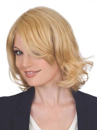 """Remy Human Perruques Lace 12"""" Bonne Blonde"""