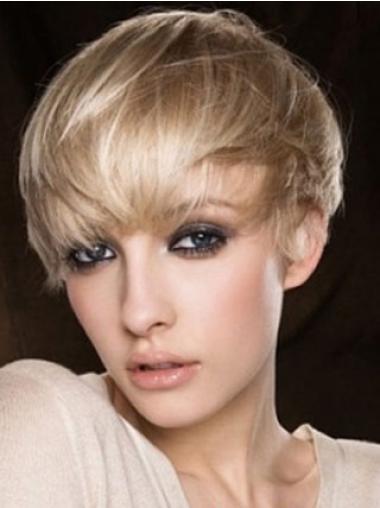 """Perruques Cheveux Humaines 4"""" à la mode Blonde"""