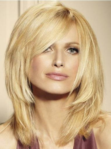 """Remy Human Perruques Lace 16"""" Confortable Blonde"""