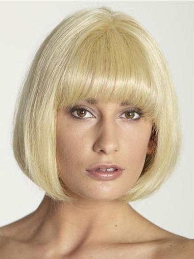 """Perruques Courtes 10"""" Souple Blonde"""