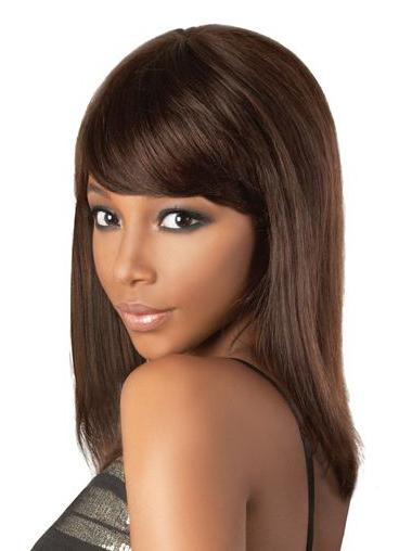 """Remy Human Perruques Lace 18"""" Exquise Brune"""