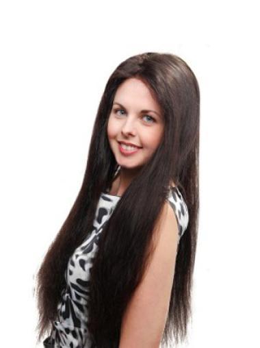 """Perruques Cheveux Humaines 26"""" Merveilleuse Noir"""