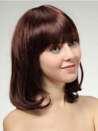 "Perruques Cheveux Humaines 14"" Convenable Auburn"