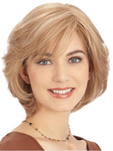 """Perruques Cheveux Humaines 10"""" Fashion Blonde"""
