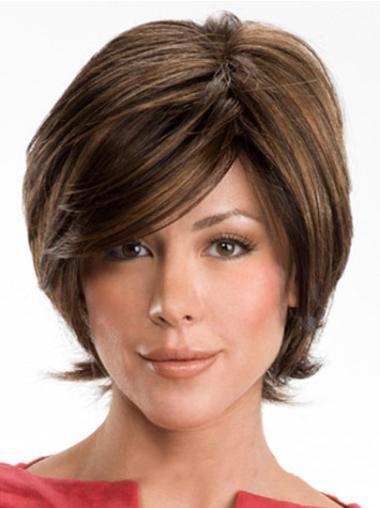 """Perruques Cheveux Humaines 10"""" Bonne Brune"""