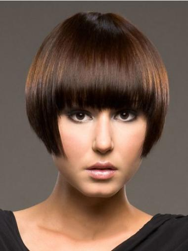 """Perruques Cheveux Humaines 8"""" Style Auburn"""