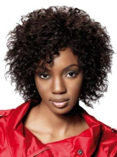 Perruques Afro-Americaines Style Brune Longueur de Menton Frisée