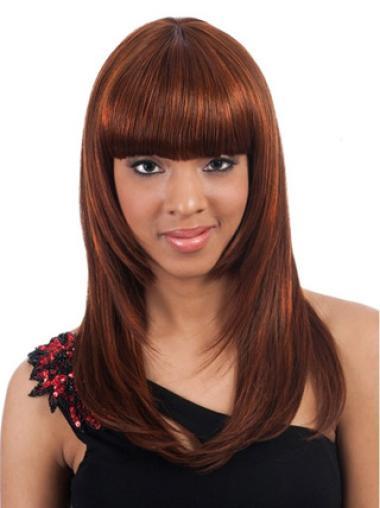 Perruques Afro-Americaines Haute Qualité Auburn Longue Lisse