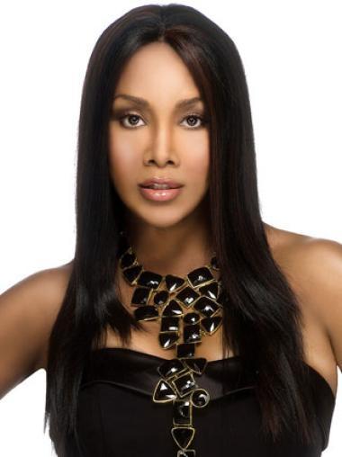 Perruques Afro-Americaines Meilleure Noir Longue Lisse