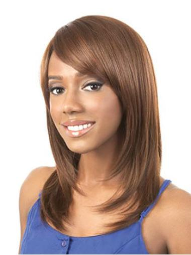 """Perruques Afro-Americaines Soyeuse Auburn 16"""" Lisse"""