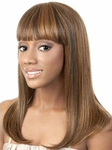 """Perruques Afro-Americaines Convenable Brune 14"""" Lisse"""