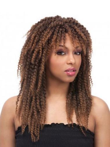 """Perruques Afro-Americaines Bon Marché Brune 24"""" Frisée"""