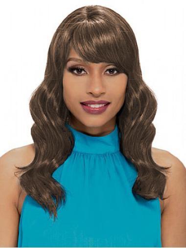 """Perruques Afro-Americaines Bonne Brune 18"""" Ondulé"""