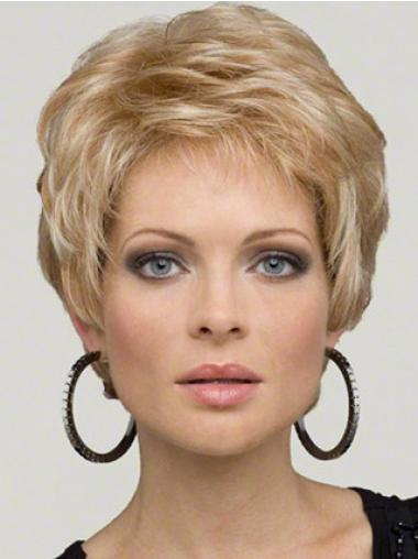 """Perruques Grises 6"""" Haute Qualité Blonde"""