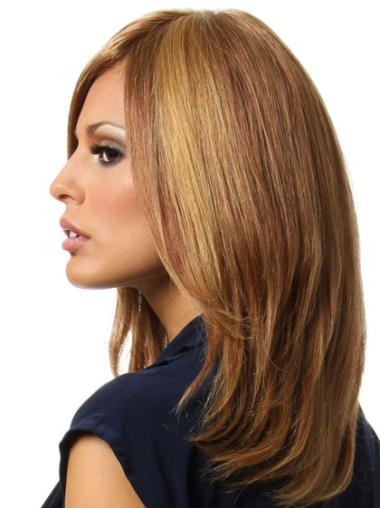 """Remy Human Perruques Lace 16"""" Fashion Brune"""