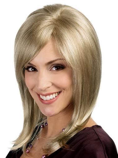 "Perruques Monofilament 15"" Confortable Blonde"