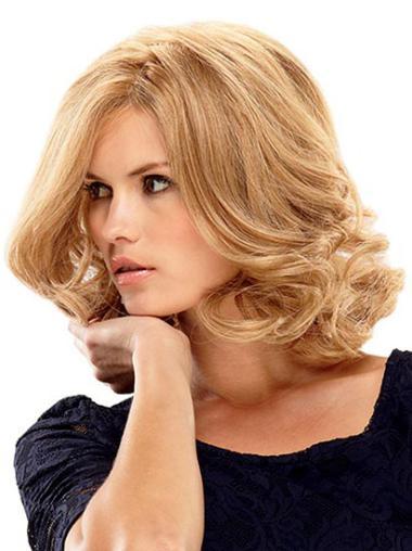 """Perruques Cheveux Humaines 14"""" En Vogue Blonde"""