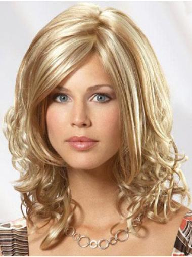 """Perruques Cheveux Humaines 14"""" Durable Blonde"""