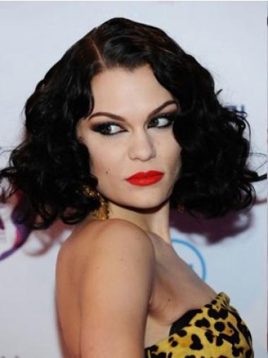 """Perruques Jessie J 14"""" Soyeuse Noir"""