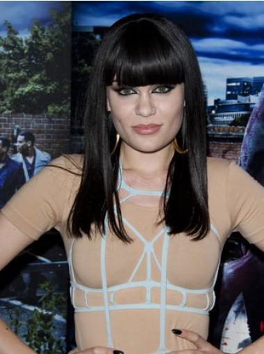 """Perruques Jessie J 14"""" Haute Qualité Noir"""