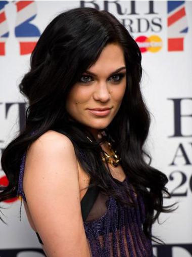"""Perruques Jessie J 16"""" Appropriée Noir"""