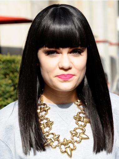 """Perruques Jessie J 16"""" En Stock Noir"""