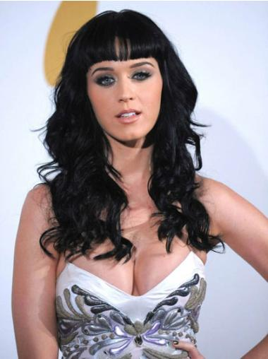 """Perruques Katy Perry 16"""" Appropriée Noir"""
