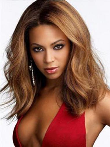 Perruques Beyoncé Populaire Auburn Longueur d'Epaules Ondulé