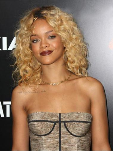 """Perruques Rihanna 14"""" Réduction Blonde"""