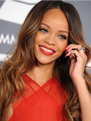 """Perruques Rihanna 24"""" Confortable Brune"""