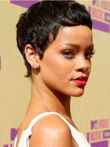 """Perruques Rihanna 6"""" Souple Noir"""