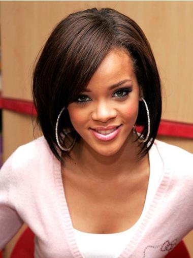 "Perruques Rihanna 10"" Branchée Brune"