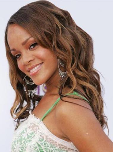 "Perruques Rihanna 18"" Pratique Brune"