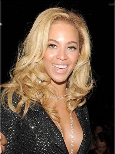 Perruques Beyoncé Propre Blonde Longueur d'Epaules Ondulé