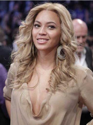 Perruques Beyoncé En Stock Blonde Longue Ondulé