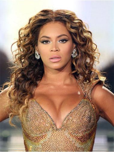 Perruques Beyoncé En Vogue Brune Longue Frisée