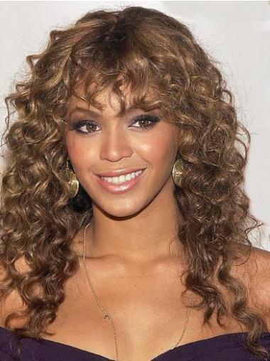 Perruques Beyoncé Merveilleuse Auburn Longue Frisée